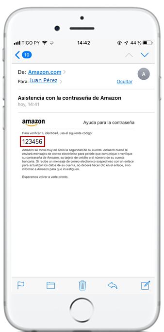 restaurar contraseña amazon prime video tigo