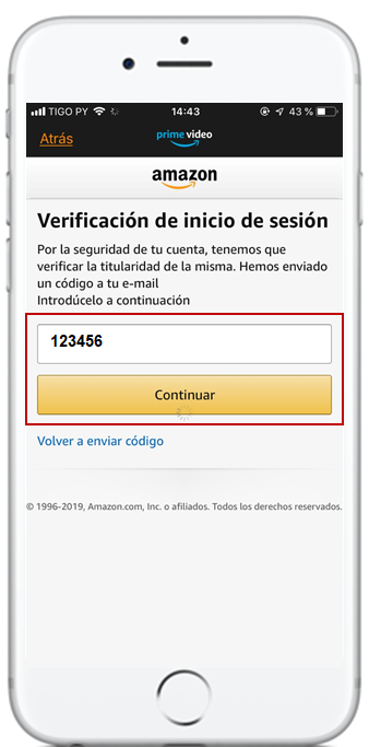 contraseña amazon prime video con tigo