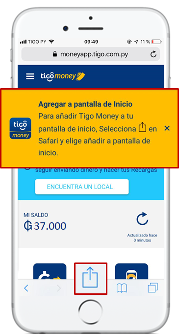 tigo money web acceder