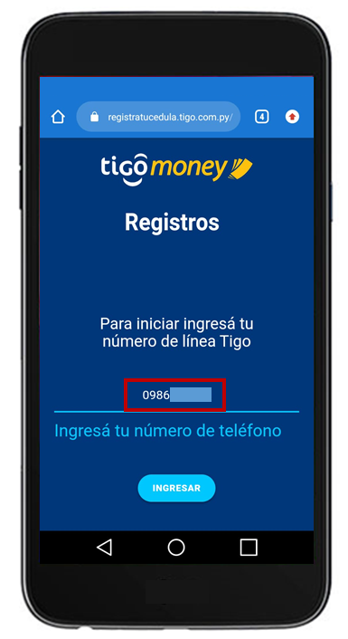 registar tigo money billetera
